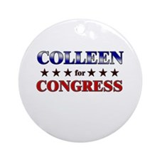 COLLEEN for congress Ornament (Round)