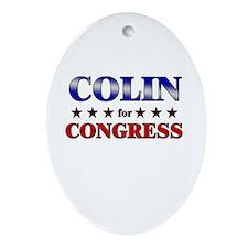 COLIN for congress Oval Ornament