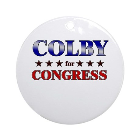 COLBY for congress Ornament (Round)