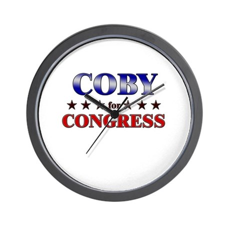 COBY for congress Wall Clock