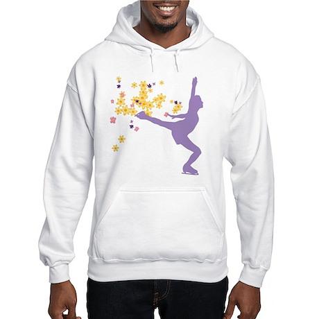 Floral Figure Skater Hooded Sweatshirt