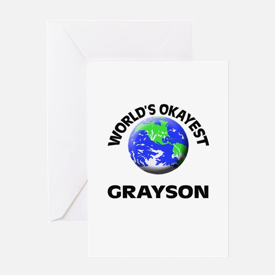 World's Okayest Grayson Greeting Cards