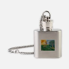 Jack and Jill Turtle Can I fly a ki Flask Necklace