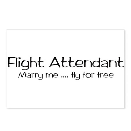Flight attendant marry me..fly for free - Postcar
