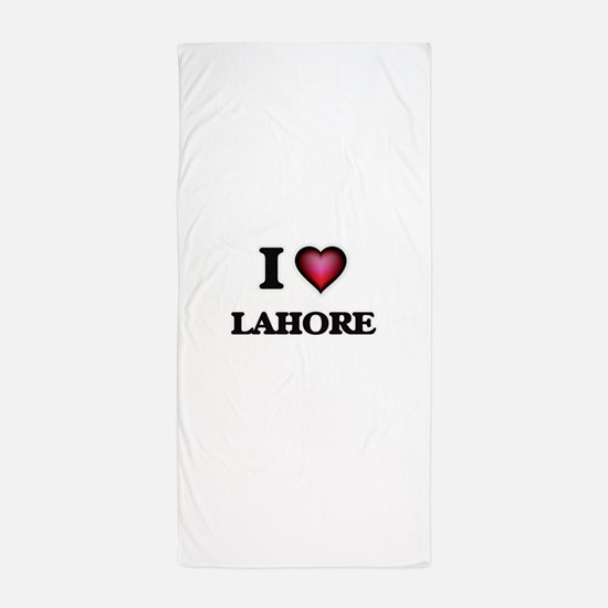 i love lahore pakistan beach towel