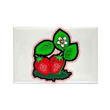 Strawberry Friends Rectangle Magnet