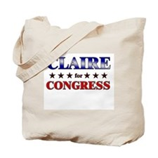 CLAIRE for congress Tote Bag