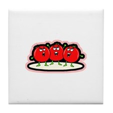 Tomato Friends Tile Coaster