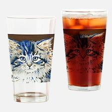 Unique Cat face Drinking Glass
