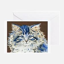 Unique Cat kitten artwork Greeting Card