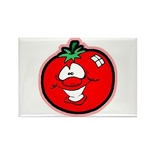 Silly Tomato Rectangle Magnet