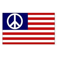 PEACE SYMBOL Rectangle Decal