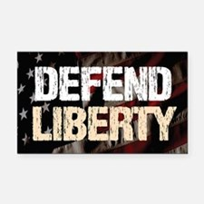 Defend Liberty Rectangle Car Magnet