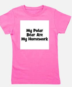 Cute Ate my homework Girl's Tee