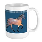 Smooth it out Blue Large Mug
