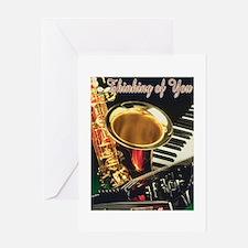Funny Music birthday Greeting Card