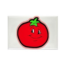 Happy Tomato Rectangle Magnet