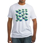BUTTERFLY BLUES :-) Fitted T-Shirt