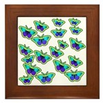 BUTTERFLY BLUES :-) Framed Tile