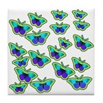 BUTTERFLY BLUES :-) Tile Coaster