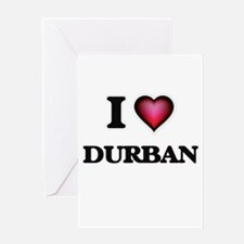 I love Durban South Africa Greeting Cards