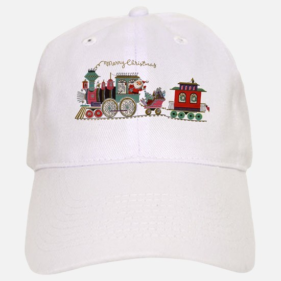 Christmas Santa Toy Train Baseball Baseball Cap