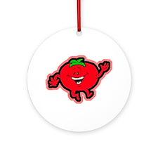 Dancing Tomato Ornament (Round)