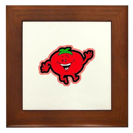 Dancing Tomato Framed Tile