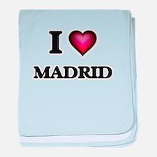 I love Madrid Spain baby blanket