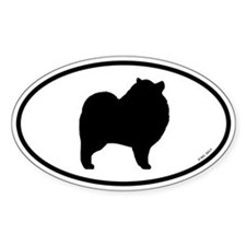 Keeshond Silhouette Decal