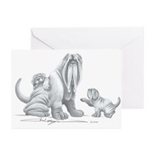Neapolitan Mastiff Puppies Greeting Cards (Package