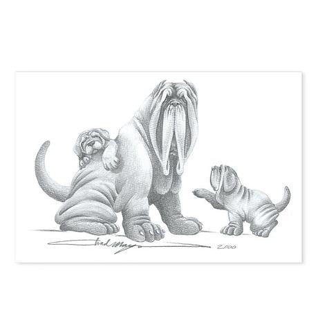 Neapolitan Mastiff Puppies Postcards (Package of 8