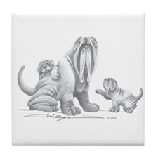 Neapolitan Mastiff Puppies Tile Coaster
