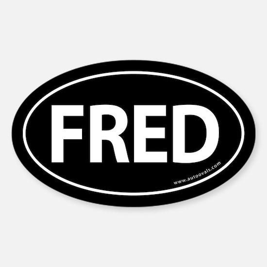Fred 2008 Traditional Sticker -Black (Oval) Sticke