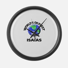 World's Okayest Isaias Large Wall Clock
