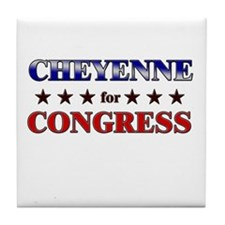 CHEYENNE for congress Tile Coaster