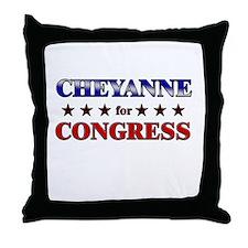CHEYANNE for congress Throw Pillow