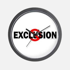 Stop Exclusion Wall Clock