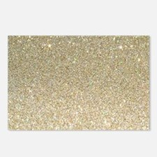 art deco gold glitter Postcards (Package of 8)