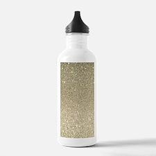 art deco gold glitter Water Bottle