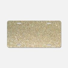 art deco gold glitter Aluminum License Plate