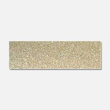 art deco gold glitter Car Magnet 10 x 3