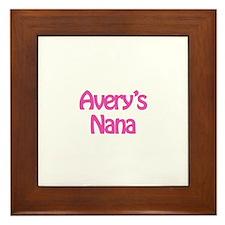 Avery's Nana  Framed Tile