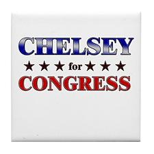 CHELSEY for congress Tile Coaster
