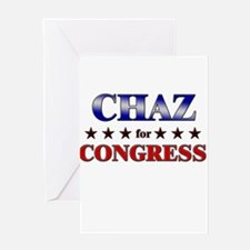 CHAZ for congress Greeting Card