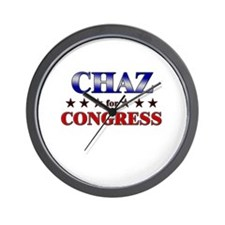 CHAZ for congress Wall Clock