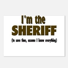 I'm the Sheriff Postcards (Package of 8)