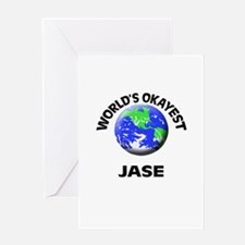 World's Okayest Jase Greeting Cards