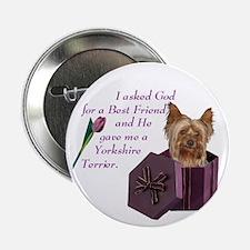 Yorkshire Terrier Yorkie Button