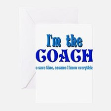 I'm the Coach -Blue Greeting Cards (Pk of 10)